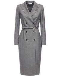 Max Mara ウールジャケットドレス - グレー