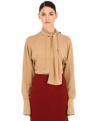 Victoria Beckham Silk Crepe De Chine Shirt - Multicolour