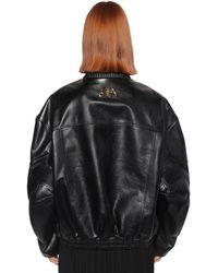 Balenciaga レザー バイカージャケット - ブラック