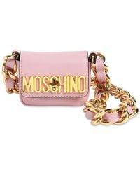 Moschino Кожаная Сумка Micro - Розовый