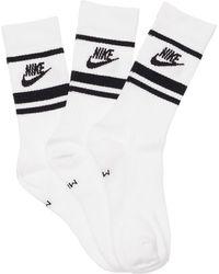 Nike Lot De 3 Paires De Chaussettes Essential Crew - Blanc