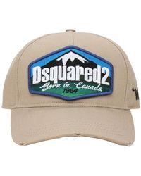 DSquared² Baseballkappe Aus Baumwollgabardine Mit Logopatch - Natur