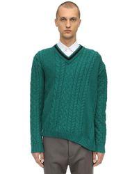 Lanvin Pullover Aus Woll/alpakamischung - Grün