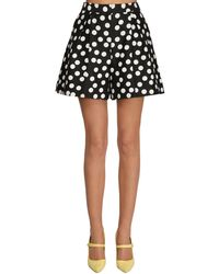 Carolina Herrera Polka Dots Cotton & Silk Shorts - Черный