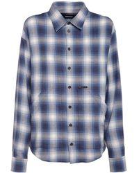 DSquared² オーバーサイズコットンシャツ - ブルー