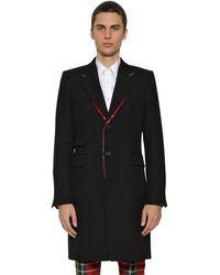 Alexander McQueen Пальто Из Шерсти - Черный