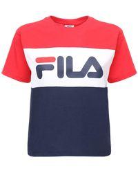 Fila T-shirt Aus Baumwolljersey Mit Logo - Rot