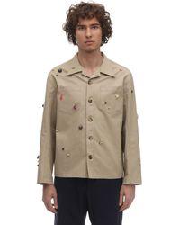 Bode Critter コットンキャンバスワークシャツ - ナチュラル