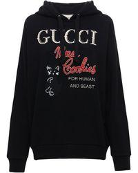 "Gucci Sweatshirt mit ""Mad Cookies"" Print - Schwarz"