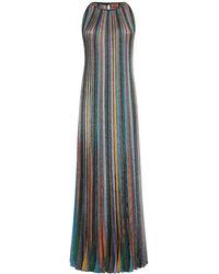 Missoni - Lurex Knit Striped Long Dress - Lyst