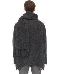 Valentino Oversized Pullover Aus Wollmischung - Grau