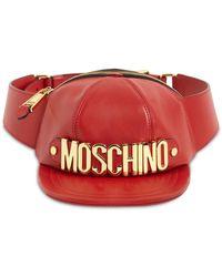 Moschino Кожаная Сумка На Пояс - Красный