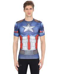 """Under Armour - T-shirt de compression """"alter ego"""" imprimé - Lyst"""