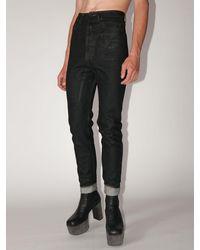 Rick Owens Drkshdw Coated Cotton Denim Jeans - Black