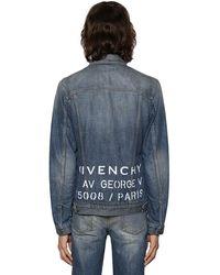 Givenchy Veste En Denim Avec Logo Vintage Brodé - Bleu