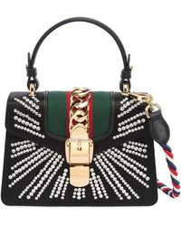 Gucci - Mini Sylvie Embellished Leather Bag - Lyst