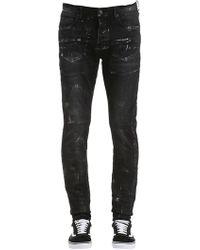 Purple - Slim Fit Washed Denim Jeans - Lyst
