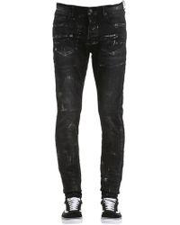 Purple Enge, Beschichtete Jeans Aus Baumwolldenim - Schwarz