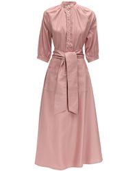 Acheval Pampa Argentina Cotton Satin Midi Dress - Розовый