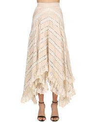 Zimmermann Chevron Lace Long Skirt - Natural