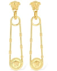Versace - Safety Pin Medusa ピアス - Lyst
