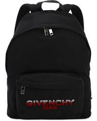 Givenchy Rucksack Aus Nylon Mit Logo - Schwarz