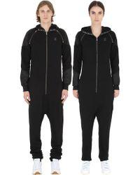 OnePiece - Detachable Sleeves Cotton Piqué Jumpsuit - Lyst