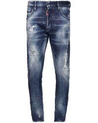 "DSquared² 15cm Jeans Aus Baumwolldenim ""skinny Dan"" - Blau"