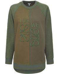 Loewe オーバーサイズコットンフリーススウェットシャツ - グリーン