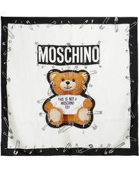 Moschino - Teddy Bear Silk Scarf - Lyst