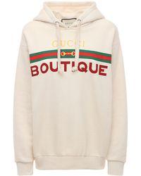 Gucci Худи С Принтом Boutique - Белый