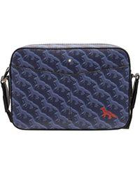 Montblanc Maison Kitsunè Leather Messenger Bag - Blue