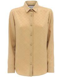 Gucci Рубашка Из Шёлкового Крепа - Естественный