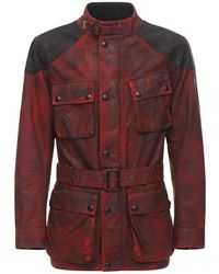 Belstaff Enduro Trialmaster Cotton Jacket - Red
