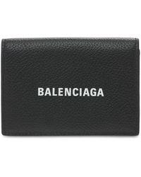 Balenciaga Logo Leather Wallet - Black