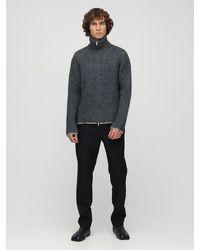Maison Margiela Sweatshirt Aus Wollmischung Mit Rollkragen - Grau
