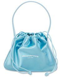 Alexander Wang Ryan Small Satin Bag - Blue