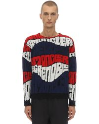 3 MONCLER GRENOBLE Pullover mit durchgehendem Print - Rot