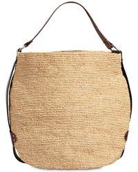 Isabel Marant Baya Raffia & Leather Tote Bag - Natural