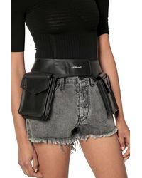 Off-White c/o Virgil Abloh Pocket Leather Belt Bag - Черный