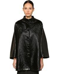 Balenciaga コーテッドデニムコクーンジャケット - ブラック