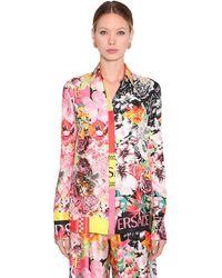 Versace シルクツイル プリントシャツ - マルチカラー