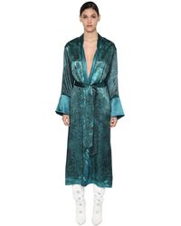 F.R.S For Restless Sleepers Cappotto In Cupro E Viscosa - Blu