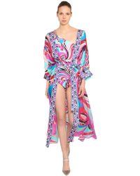 Emilio Pucci - Printed Silk Chiffon Beach Robe - Lyst