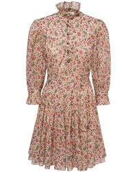 Etro Платье Из Хлопка С Принтом - Многоцветный