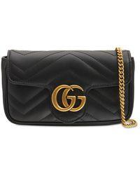Gucci Gg Marmont レザーバッグ - ブラック