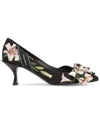 Dolce & Gabbana Lory フラワープリントカディパンプス 60mm - ブラック