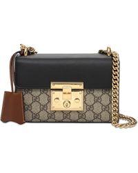 Gucci Padlock GG Supreme Shoulder Bag - Black