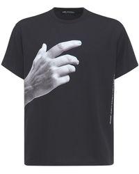 Neil Barrett Bedrucktes T-shirt Aus Jersey - Schwarz