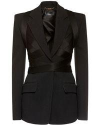 Versace Атласный Пиджак - Черный